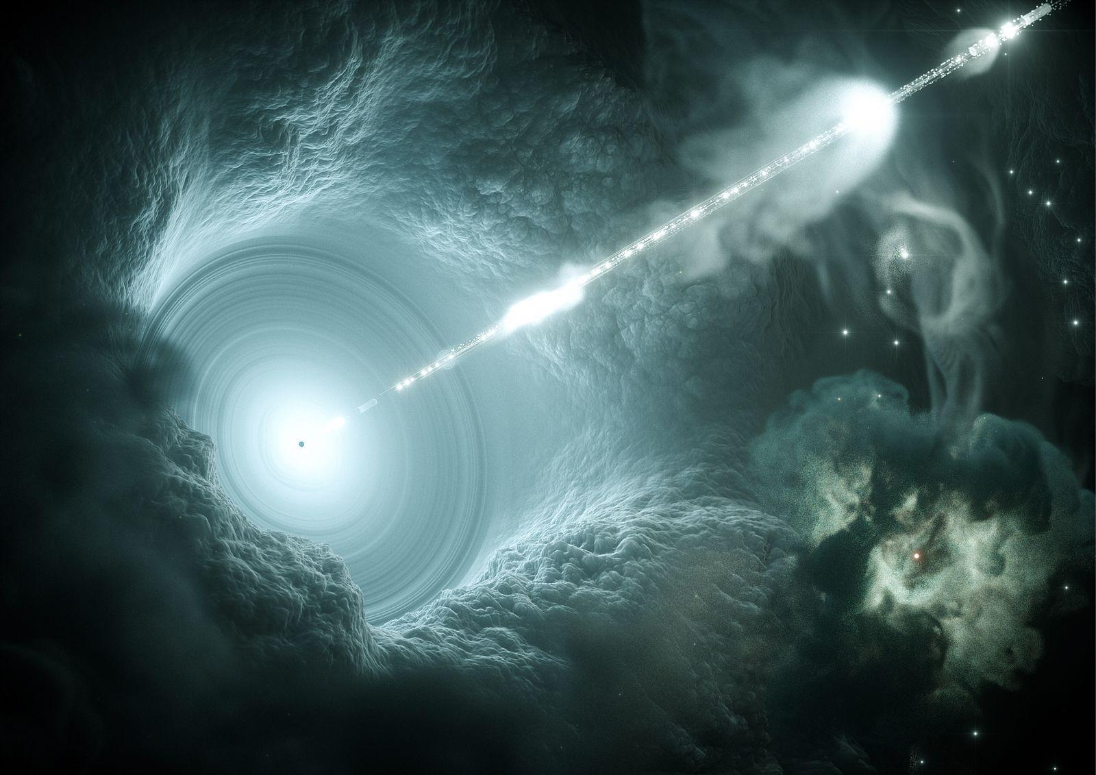 EINMALIGE VERWENDUNG Teilchenbeschleuniger im Weltall