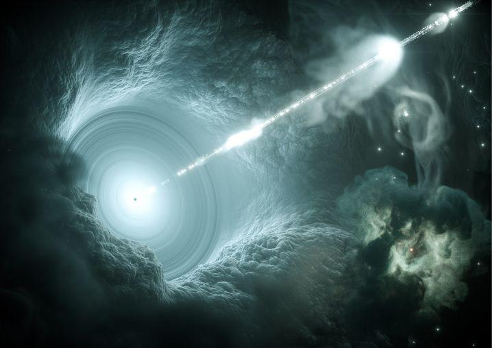 Aktiver Galaxienkern (künstlerische Darstellung)