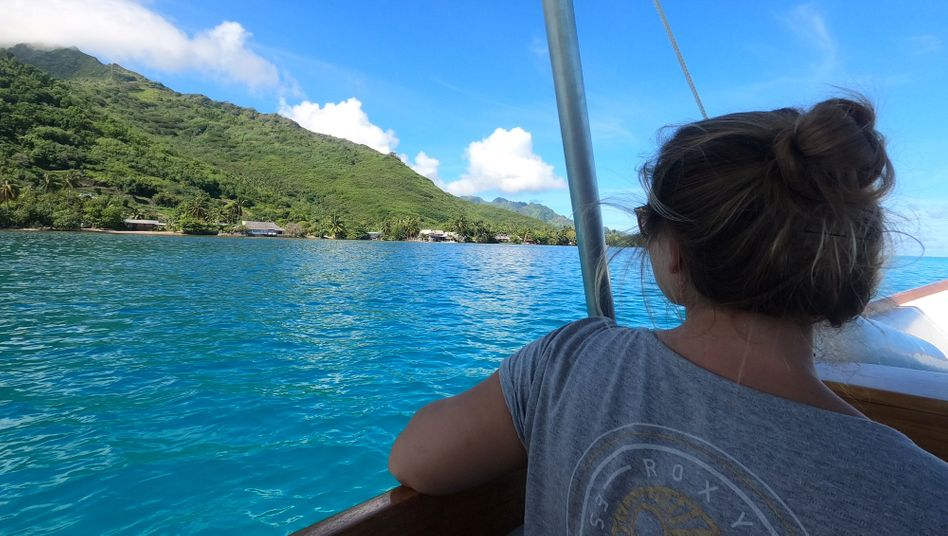 Charlene Optensteinen arbeitete für den SPIEGEL von Tahiti aus