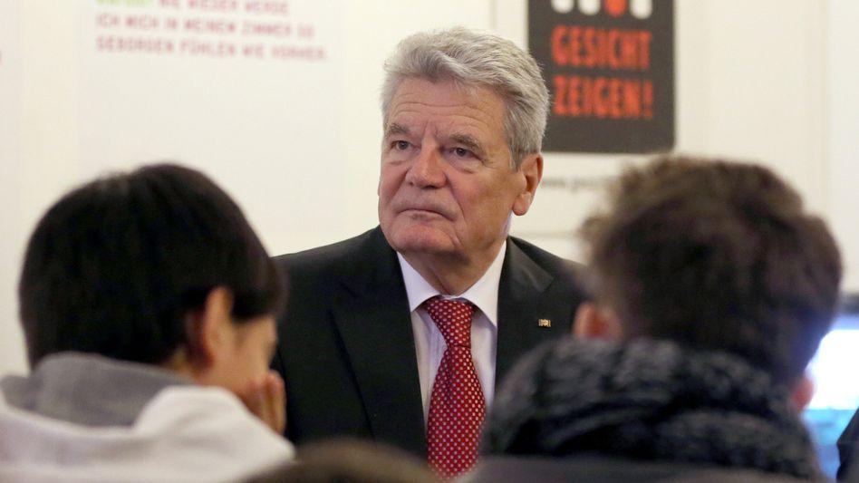 """Bundespräsident Gauck in jüdischem Gymnasium in Berlin: """"Niemals vergessen"""""""