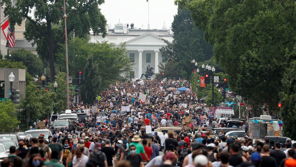 Demonstranten in Washington