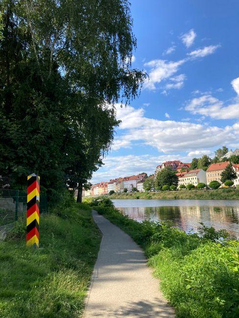 Oder-Neiße-Radweg: Bethina Röser hat die Radtour mit Gepäcktransport organisiert