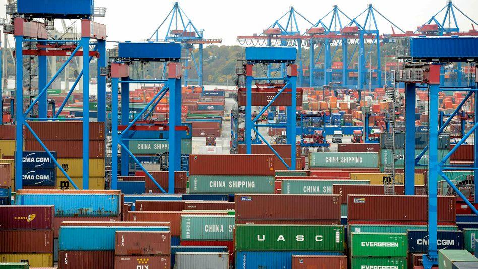 Container am Hafen Hamburg: Weniger Wachstum