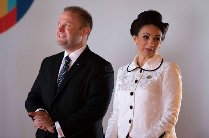 Maltesischer Premier Muscat mit Ehefrau Michelle