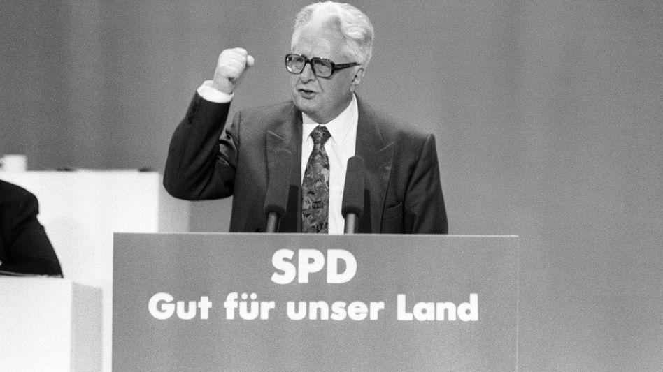 Vogel während des SPD-Bundesparteitags in Bremen