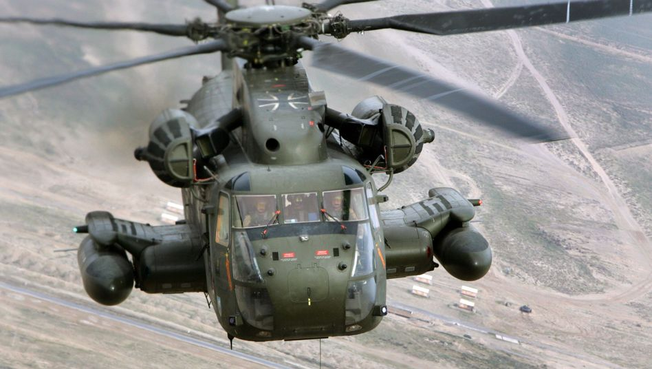A CH-53 Military Helicopter in Afghanistan.