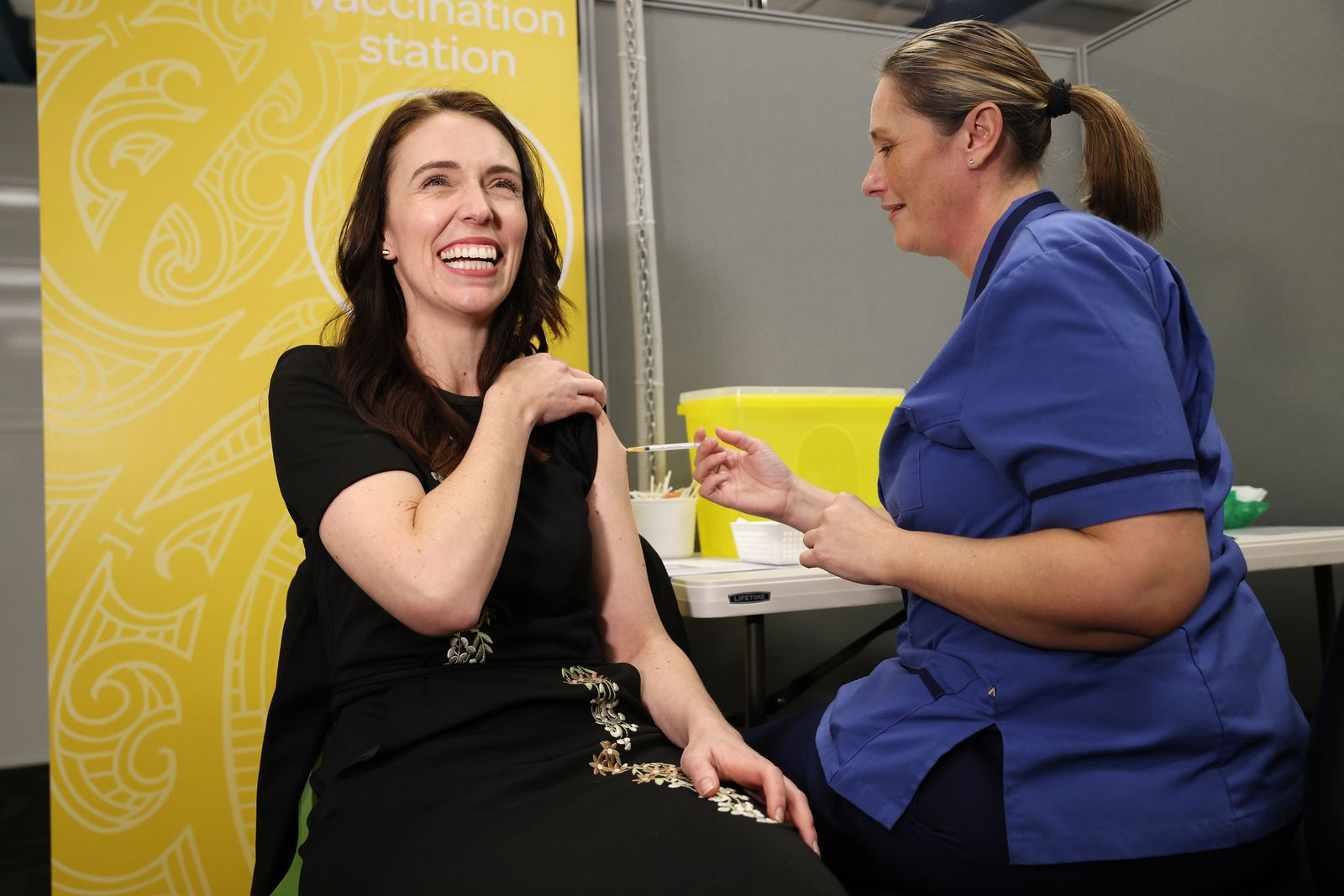 Jacinda Ardern Receives Second Dose Of Pfizer As The Government Rolls Out Next Stage Of Vaccinations