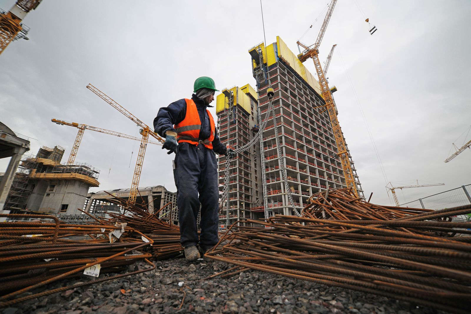 Bauarbeiter / EZB / Frankfurt