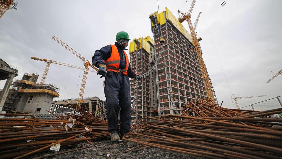 Bauarbeiter in Frankfurt am Main: Der deutsche Stellenmarkt bleibt robust
