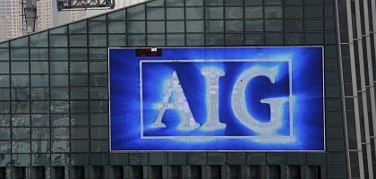 AIG-Turm in Hongkong mit Riesenbildschirm: Der Versicherer ist die weltweite Nummer zwei