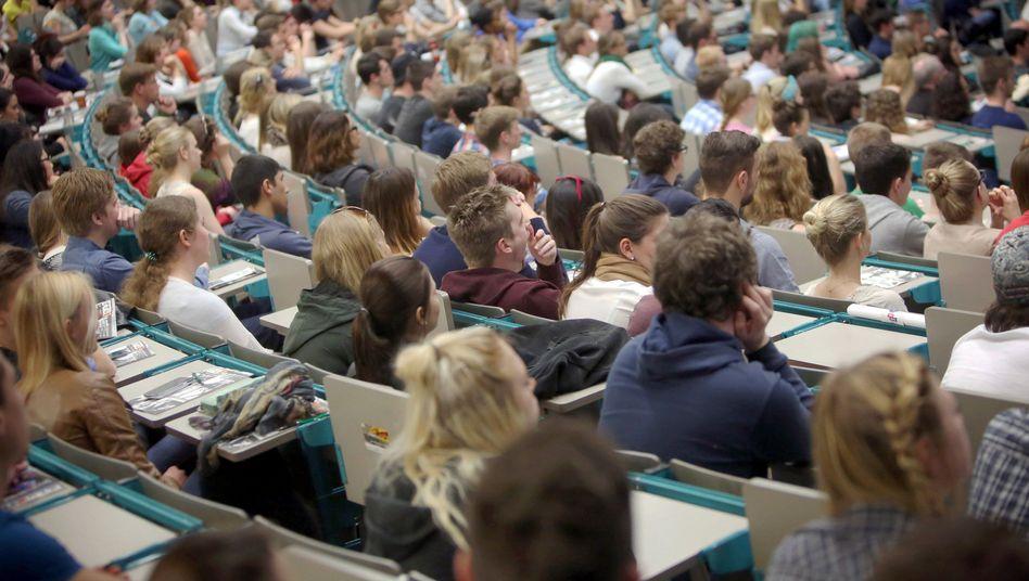 Studenten in der Universität Mainz (Archiv): Boom bei Studentenzahlen
