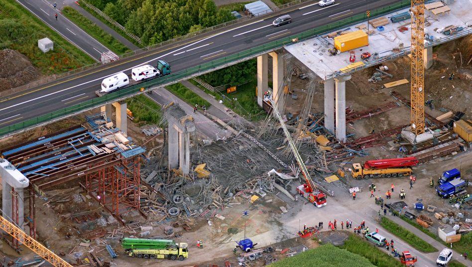 Unfallstelle an der Talbrücke Schraudenbach (Juni 2016)