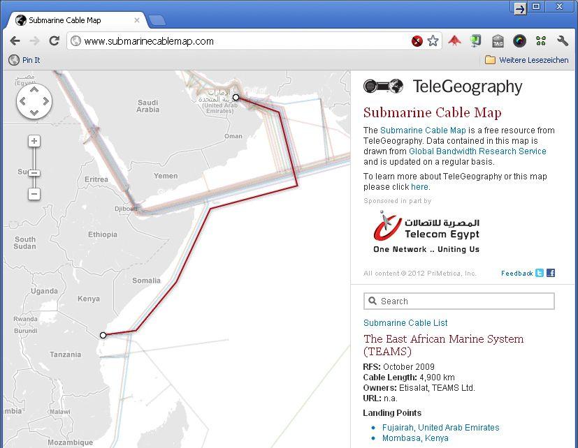 NUR ALS ZITAT Screenshot Submarine Cable Map