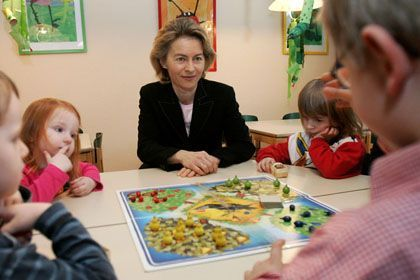 German Family Minister Ursula von der Leyen: a breakout star of the current coalition government.