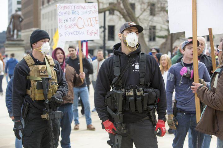 Proteste von Trump-Anhängern in Lansing, Michigan