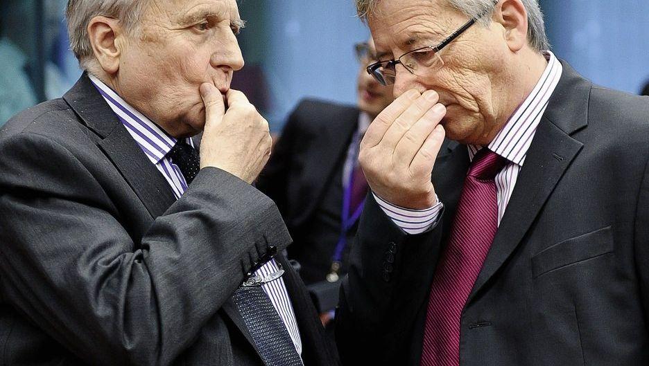 EZB-Präsident Trichet, Euro-Gruppen-Chef Juncker: Plädoyer für europäische Anleihen