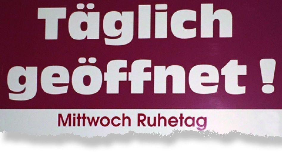 Schild vor einer Konditorei in Bad Nenndorf