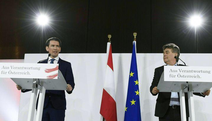 Schwarz-grüne Koalitionspartner Sebastian Kurz, Werner Kogler