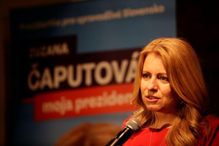 Präsidentschaftskandidatin Zuzana Caputova