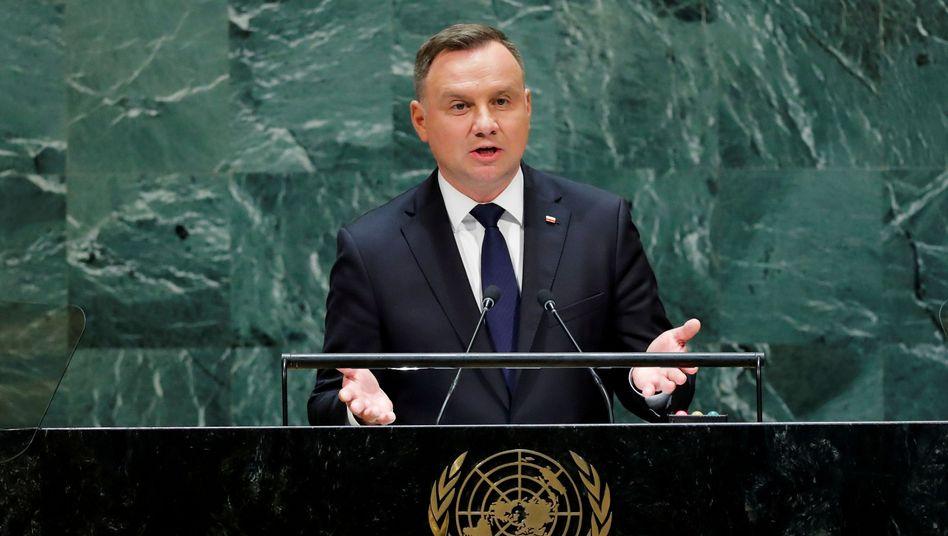 """Polnischer Präsident Duda (Archivbild): """"Verfälschung der historischen Wahrheit"""""""