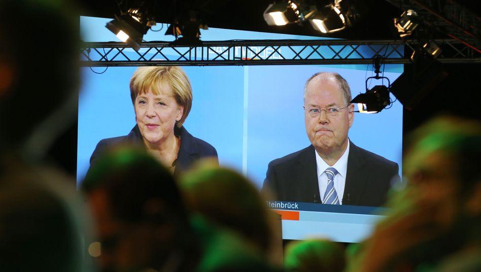 """TV-Duell Merkel gegen Steinbrück: """"Raab won"""""""