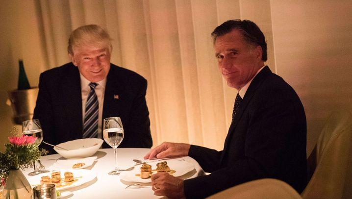 Abendessen von Trump und Romney: Lob zum Dessert