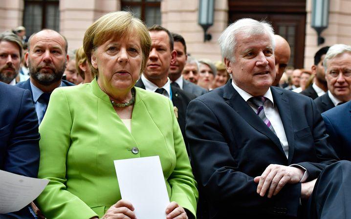 Merkel und Seehofer im Deutschen Historischen Museum