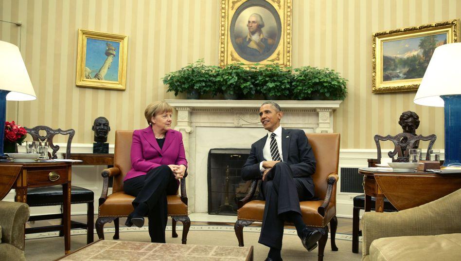Russlands Rolle in Ukraine-Krise: Merkel und Obama drohen mit Sanktionen - bis es wehtut