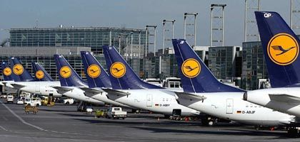 Lufthansa jets at Frankfurt International Airport: The latest company to become embroiled in a spying scandal
