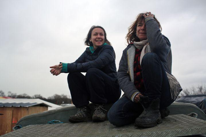 Britische Flüchtlingshelfer Inca Sorrell und Liz Clegg