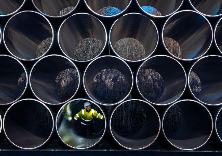 Rohre für die zukünftige Ostsee-Erdgastrasse Nord Stream 2 (Archivbild)