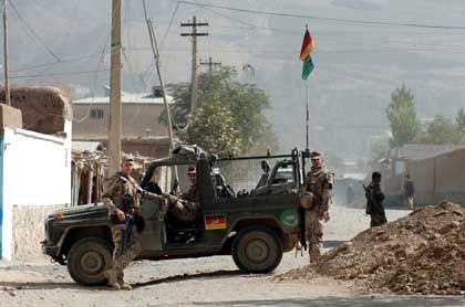 Some 200 German soldiers are stationed in Faizabad, Afghanistan