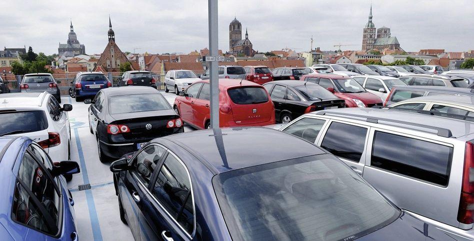 Stellplätze in Stralsund: Relikt aus den Zeiten des VW Käfer