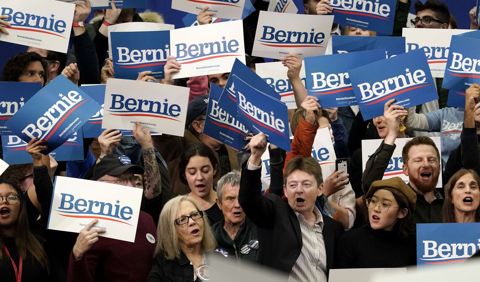 Presidential Candidate Bernie Sanders Holds NH Primary Night Event In Manchester