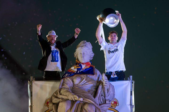 Iker Casillas (rechts) gewann insgesamt dreimal die Champions League mit Real Madrid - zuletzt 2014