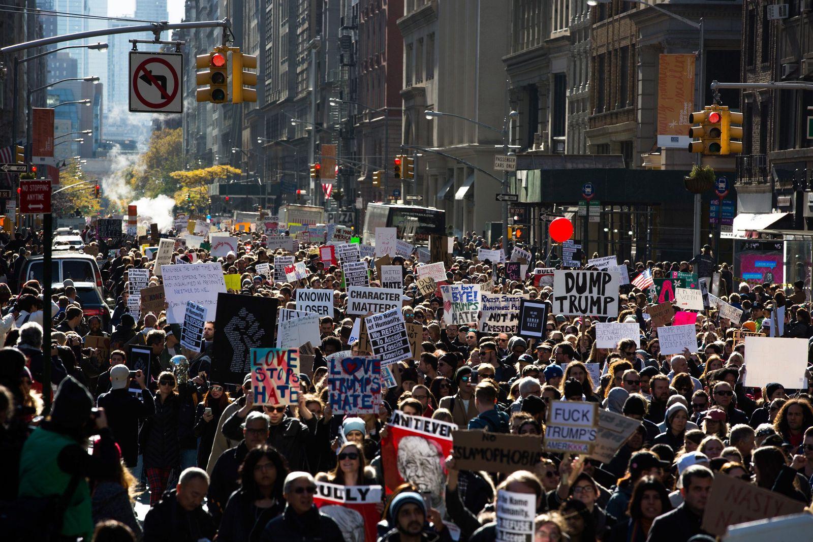 Donald Trump / Proteste / New York