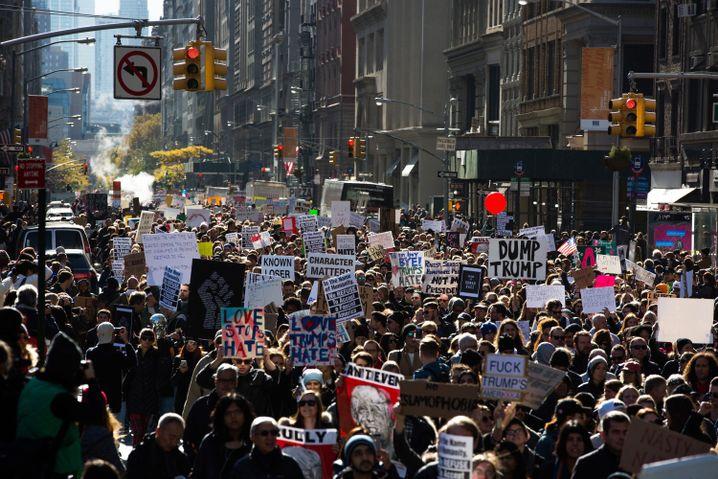 Protestmarsch auf der Fifth Avenue
