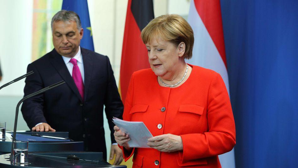 Angela Merkel, Viktor Orbán (Archivbild)