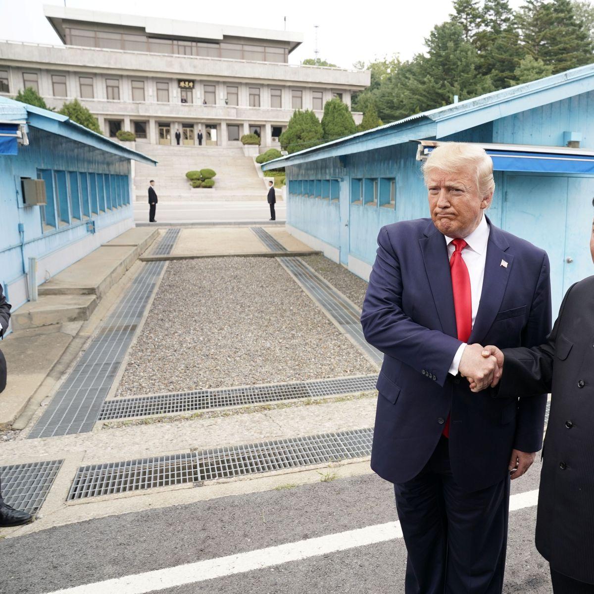Treffen an der koreanischen Grenze: Donald Trump lädt Kim Jong Un ins Weiße Haus ein