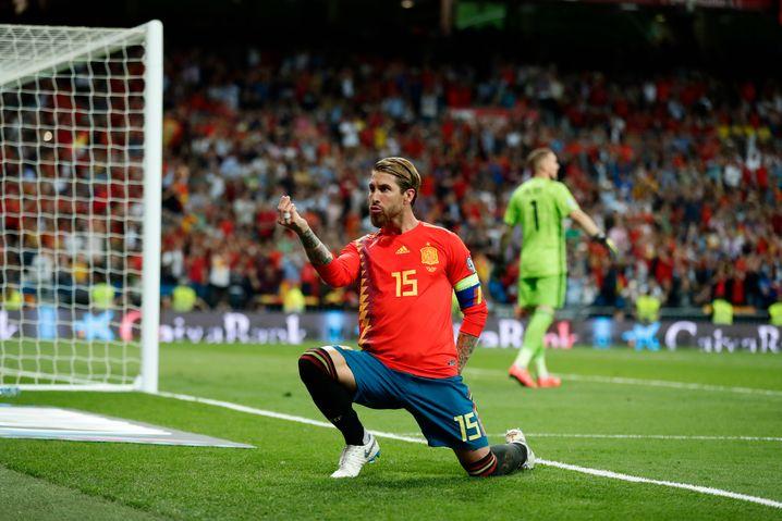 Mit Spanien wurde Ramos zweimal Europa-, einmal Weltmeister