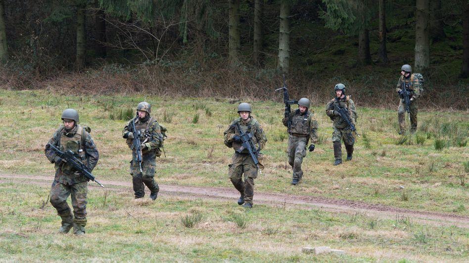 Bundeswehrsoldaten bei Übung im Saarland
