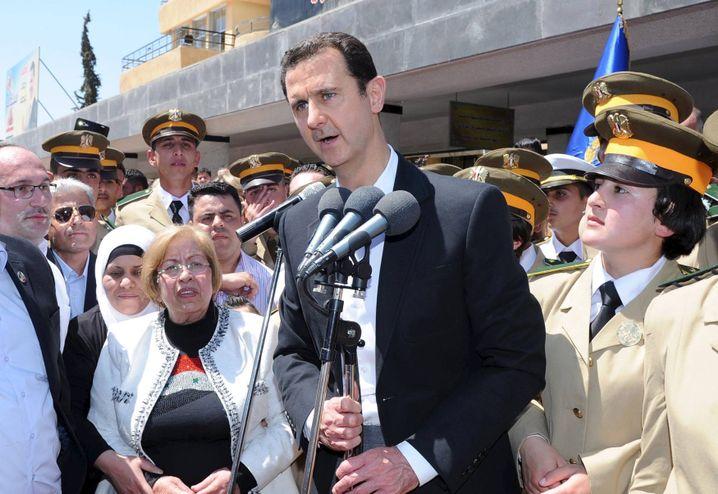 """Baschar al-Assad: Im Mai hielt er in Damaskus eine Rede zu Ehren der """"Märtyrer"""""""