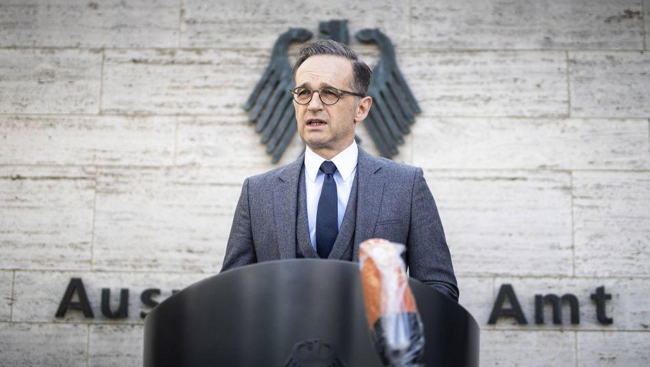 """Bundesaußenminister Heiko Maas: """"Das sind keine Voraussetzungen, mit denen man überhaupt einen erholsamen Urlaub verbringen kann"""""""