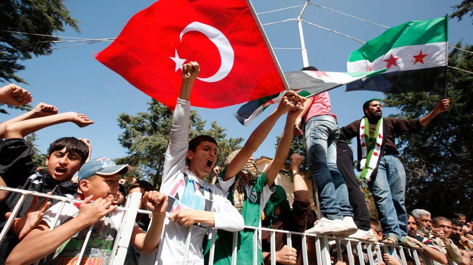 Syrian refugees in Turkey: Ankara is now defending European values.