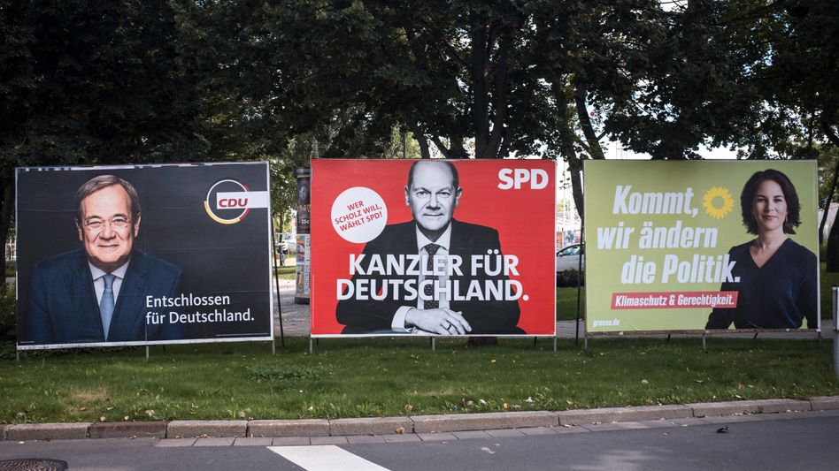 Wahlplakate: Ein klarer Sieger zeichnet sich nicht ab