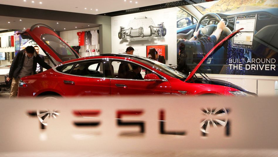 Tesla-Showroom in Peking