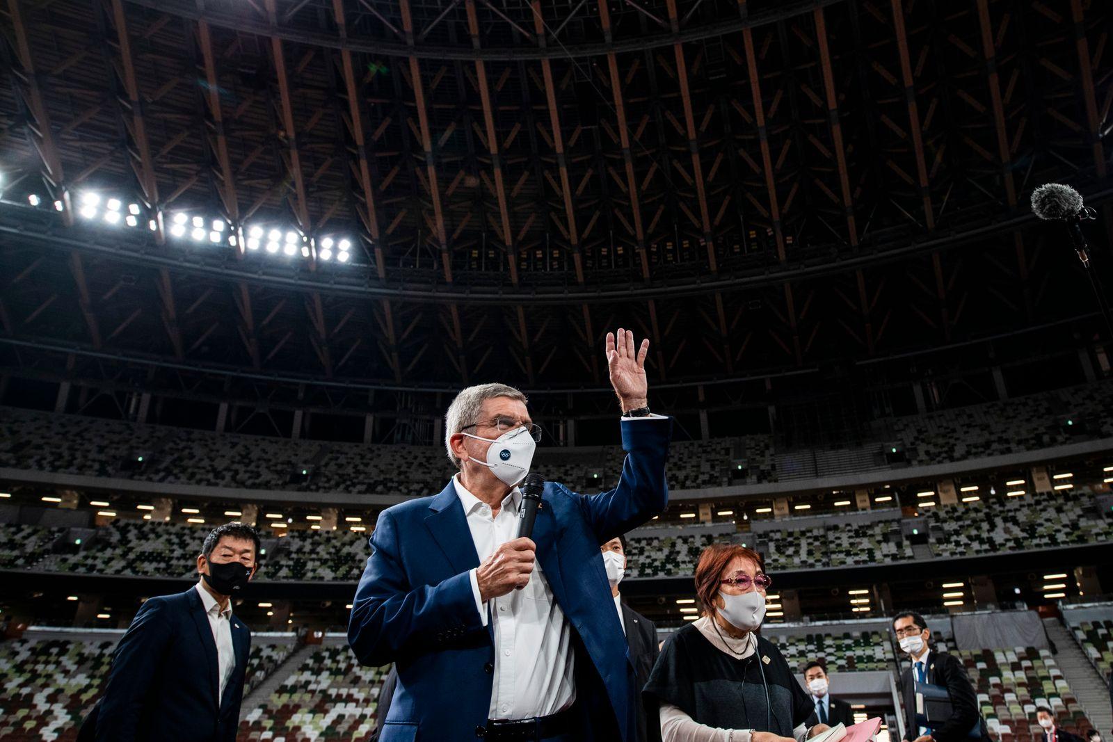 APTOPIX Olympics Tokyo Bach