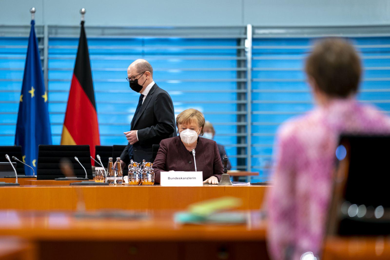 Weekly meeting of the German Federal Cabinet in Berlin, Germany - 10 Feb 2021