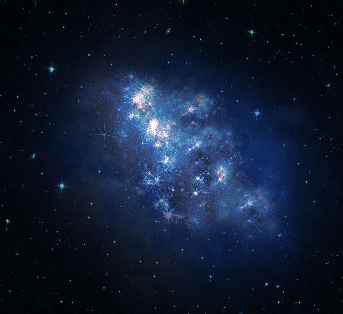 EINMALIGE VERWENDUNG Entfernteste Galaxie / Hubble