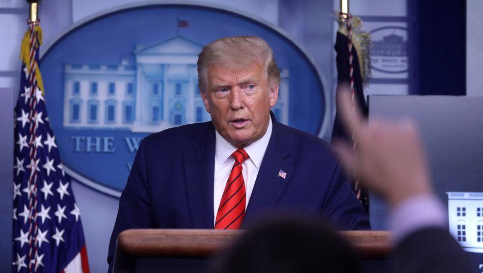 US-Präsident Donald Trump bei einer Pressekonferenz